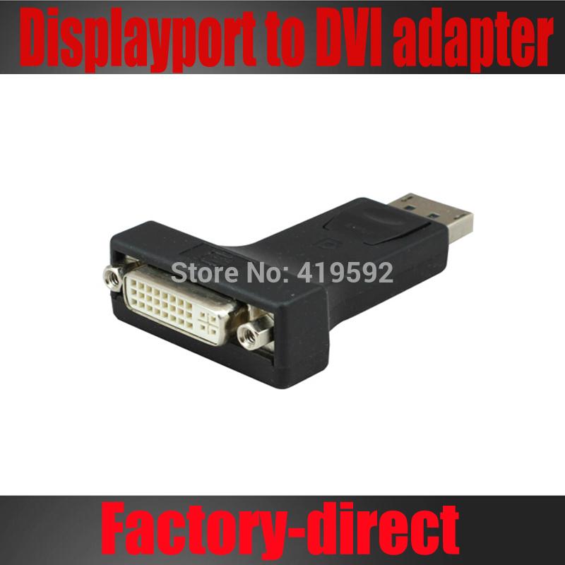 Free shipping 1PCS High quality Dis-playport Dp to DVI adapter converter displayport male to DVI female(China (Mainland))