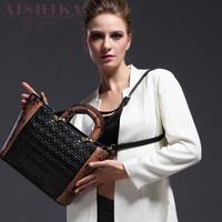 Card autumn and winter women bags 2015 trend work bag genuine leather one shoulder color block women cross-body handbag