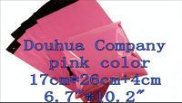"""free shipping C153 17X30cm+4cm 6.7""""X10.2"""" 200pieces pink high quality glossy Mailers Padded Envelopes air Bags"""