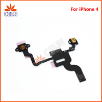 For iPhone 4 4G  Proximity Light Sensor Power Button Flex Cable Ribbon Replacement  Free Shipping