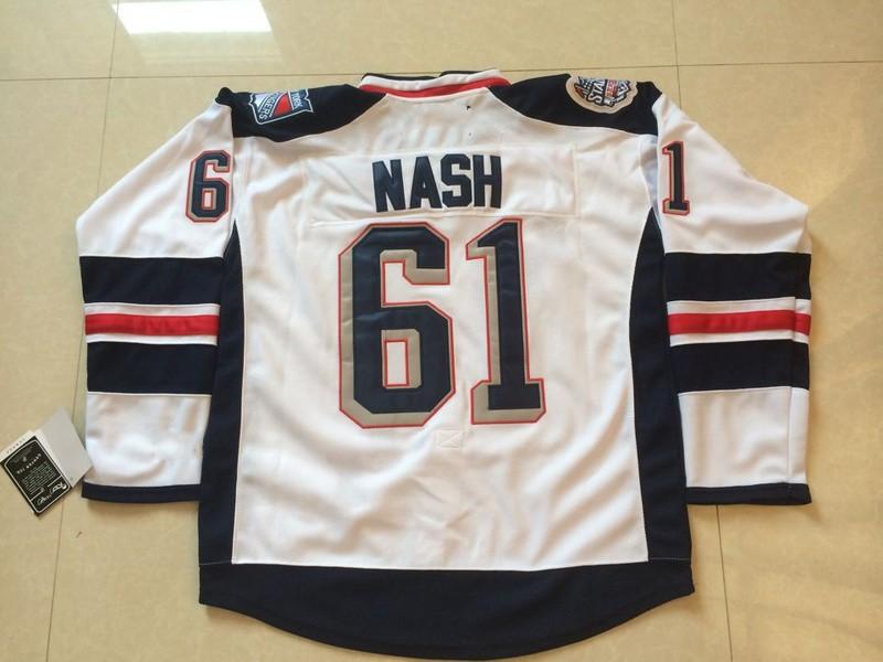 ... Authentic New York Rangers NHL Hockey Jersey # 61 Rick Nash Jersey NY
