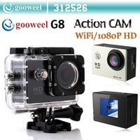 Gooweel G8 Action camcorder sport dv Full HD 1080P Car DVR DV 30M Waterproof Wifi Version  Video Camera HOT SALE
