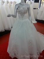 casual dress 2014 brief tube top princess puff skirt rhinestone train strap style bride wedding
