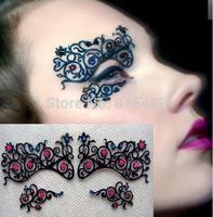 Cutout False eyelash stickers eye stickers sparkling diamond luxury royal masquerade halloween lk003