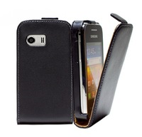 Top Quanlity 100% Genuine Leather Flip Cover Case For Samsung Galaxy Y GT-S5360 S5360 PY