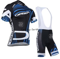 Free shipping! Orbea 2014 short sleeve cycling jersey bib shorts set bike bicycle wear clothes jersey pants,gel pad