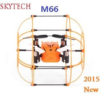 Nouveau 2015 skytech m66 2.4g rc hélicoptère drone 4ch 6 axes. télécommande quadcopter jouets pour enfants livraison gratuite