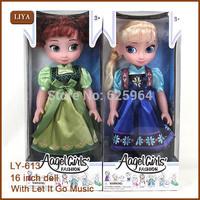 Plastic Princess American 40cm Girl Doll 16 Inch Cute Realistic Baby Children Birthday Gift handmade dress fashion doll