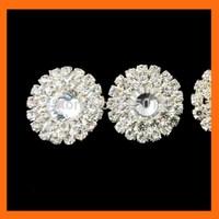 Free Shipping ! 100pcs/lot  19mm round rhinestone embellishment for wedding invitation card