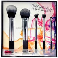 Real Techniques Beauty Limited Sliver Duo-Fiber 5pcs Brush Set pincel maquiagem Makeup Brushes Tool Set