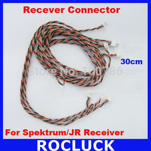 10pcs/lot Satellite Connector 30cm length For Spektrum Receiver and JR Receiver(Hong Kong)