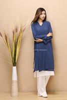 2014 new autumn National Ethnic Dress women's leisure loose Cotton long sleeve robe slub linen vintage long dress solid color