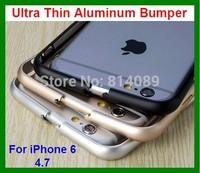 50pcs/lot Free Shipping Ultra Thin Aluminum Bumper Case for iPhone 6 4.7