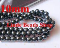 Free Shipping 10mm Black Hematite Beads, Shamballa Findings bead for bracelet making 84pcs/lot