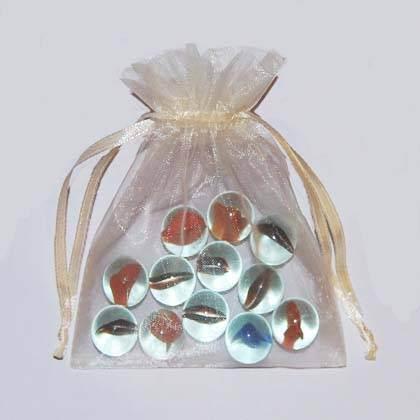 50 Cream Wedding Organza Gift Pouch Wedding Favor Bags 9 x 12 cm(China (Mainland))