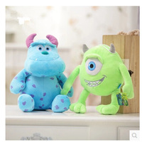 20cm Monsters Inc Monsters University 2pcs/set Monster Mike Wazowski+James P. Sullivan plush toy for kids gift