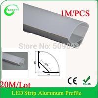 Hanks led profile 1M anodized aluminum profile extrusion for led bar light shelf light corner light 20M/Lot