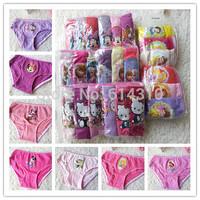 New 2015 Baby Girls Cotton Underwear Kids / Girl Under Briefs / Panties / 6pcs free shipping