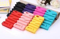 New Fashion 3D PINK Silicone Cover Back Case For iphone 6 6 plus   For iphone 6 6 plus Silicone Case  Hot