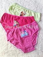 3Pcs/Lot  Baby Girls Frozen Underwear Girl's Cotton Briefs Kids Frozen Panties Girl Inner wears(3-10 years)