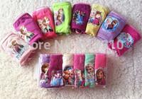 6pcs/lot Frozen Queen Elsa Princess Anna Baby Girls Children Kids cotton Underwear Briefs /Panties/ inner wears (3-12 years)