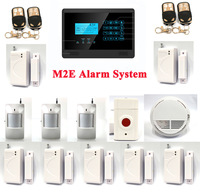 Emergency Panic Alarm, Wireless GSM SMS Home Alarm System, 850/900/1800/1900MHz, Touch Screen, Fire Smoke Sensor P351