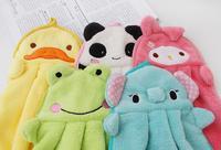 """Fun & Dry"" wholesale 2014 Character hanging towel, cute animals baby hand towel,cartoon hanging bath towel five colors"