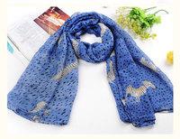 10pcs / lot Free shipping sweet wild Korean cartoon zebra dot scarf / shawl longer section of dual / Yiwu scarf