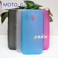 4 colors option transparent protective case for motorola moto g2 xt1063 phone back cover for moto g2 case tpu soft blue pink
