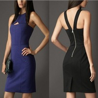 LSTEuropean and American fashion star with sexy halter temperament was thin package hip dress H6668