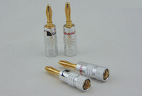20pcs/lot 4mm Nakamichi Speaker Wire Plugs 24K Gold Plated Copper Adapter Audio Jack Socket Screw Binding Post Connector RCDNK