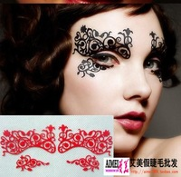 Hot sale Luxury fashion lace cosmetic eye stickers  cutout  False eyelash stickers lk018 Free shipping