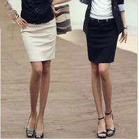 2014 Brand Korea Spring & Summer Fashion Women's Professional High Waisted Above Knee OL Slim Solid Pencil Skirt Plus Size XXXL