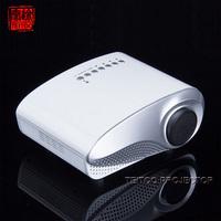 Free Mini Tripod!! White Mini Projector,Portable,480x320 support 1080P,HDMI,VGA,USB,SD,AV,TV Input,free shipping