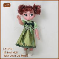 40CM Frozen Plastic Toys Princess Elsa Plastic Doll Anna Plastic Dolls Brinquedos Kids Dolls for kids gifts