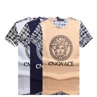 NEW Summer versa fashion casual MEN print O-Neck short sleeve high quality men's emoji T-shirt ce men