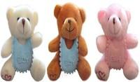 10pcs/lot free shipping Fashion 10cm baby birth Bear Pendant children toy  key pendant party gift wholesale