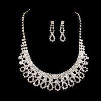 HOT!!Bow Bridal Necklace Earring Sets new piece of high-grade crystal jewelry free shipping