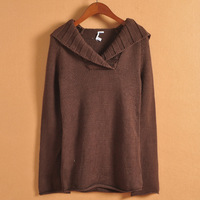 14 autumn and winter fashion thickening with a yarn thick sweater fashion slim thermal sweater female