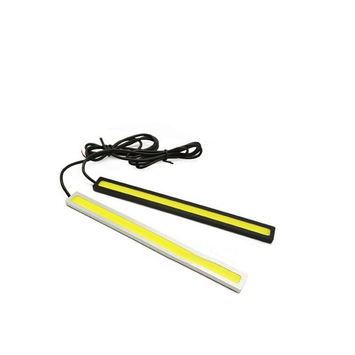 1pair 17cm 12V Ultra thin COB Chip LED Car Auto DRL Daytime Driving Running Fog Light