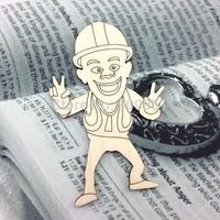 2015Teda customized lovely cartoon characters wood decoration,keychain decoration