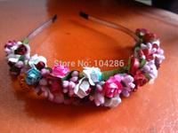 Sweet Multi Color Flower Children's Bohemian Garlands Headband Kids' Flower Wreath Hair Accessories Baby Girls' Flower Headband