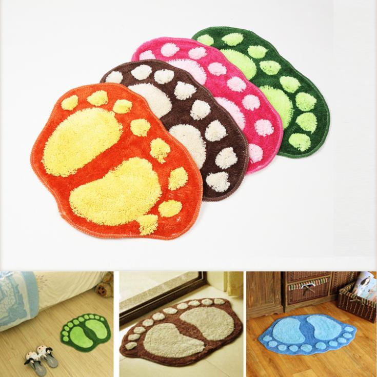 Fashion Cute Footprints Big Feet Bath Mat Door Mats On Foot Pad Rug HG-1479\br(China (Mainland))