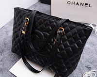 2015 hot sell spring new Channelled Spiraea Quilted handbag PU shoulder bag big bag ladies bag temperament shipping free