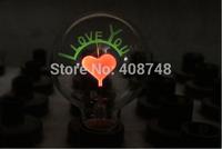 E27 40W Edison Love Bulb Romance I Love You Incandescent Light bulbs 110V 220V tung+sten lamp for Romantic Valentine's Day Gift
