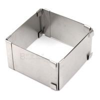Stainless steel square ring stretching mousse cake mold cake circle telescopic range 8 ~ 15cm baking tools