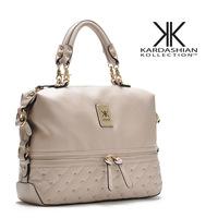 Hot!New Fashion 2014 Kardashian Kollection Brand Black Chain Women's Handbag Shoulder Bag Big Bag KK Free Shipping