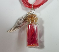 Phoenix Down jewelry final fantasy inspired necklace potion in a winged bottle NK214