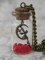 Link's Fairy bottle necklace legend of zelda july birthstone Artisan NK216