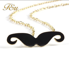 Free Shipping New Fashion Gold Chain 8 Colors Charm Moustache Beard Pendant Necklaces Jewelry Wholesales 1177
